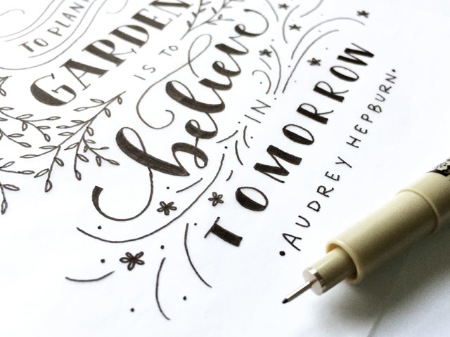 Lettering with details