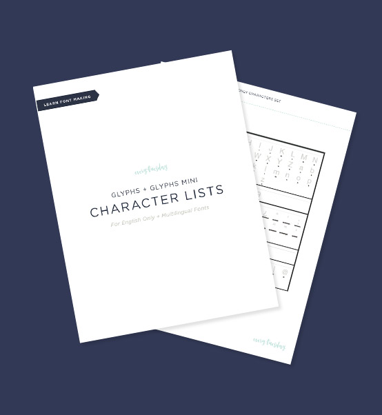 Glyphs + Glyphs Mini Character Lists