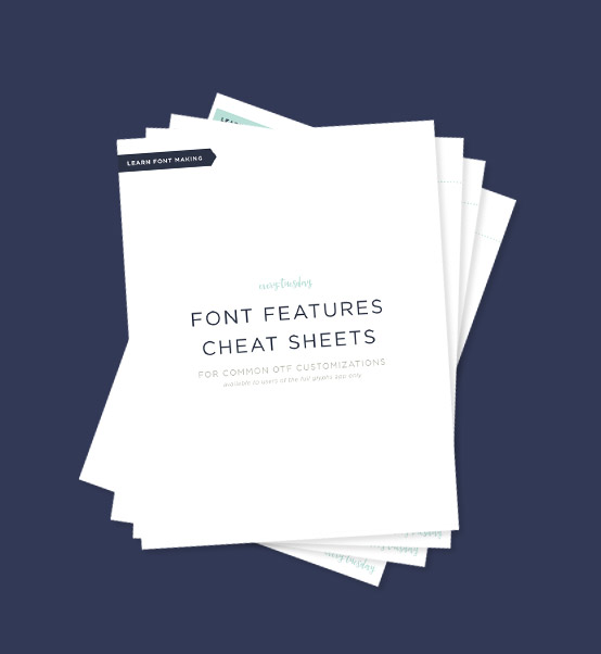Font Features Cheat Sheets