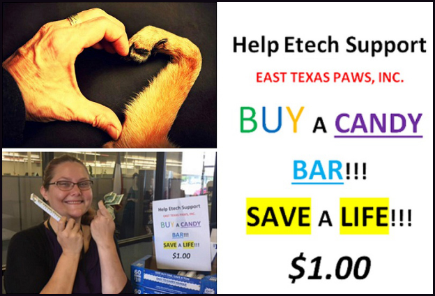 Etech Give Back Program – Lufkin is saving lives 1 candy bar at a time!!!