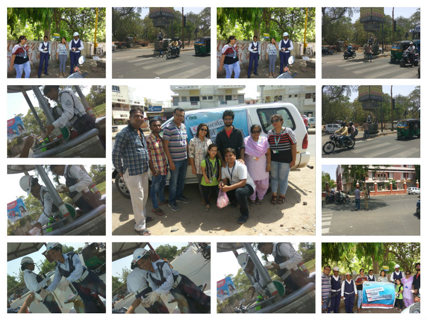 Buttermilk Distribution – Traffic Police @ Etech, Vadodara