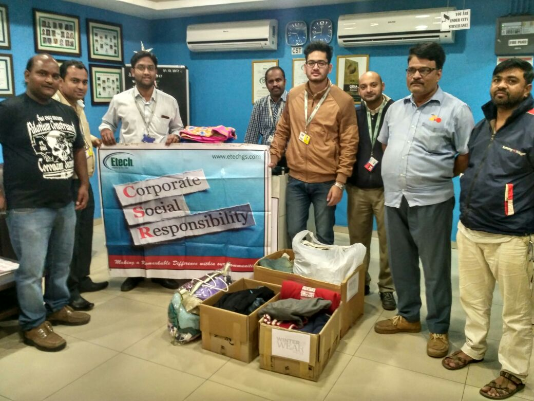 Winter Wear Drive 2017 @ Etech Vadodara