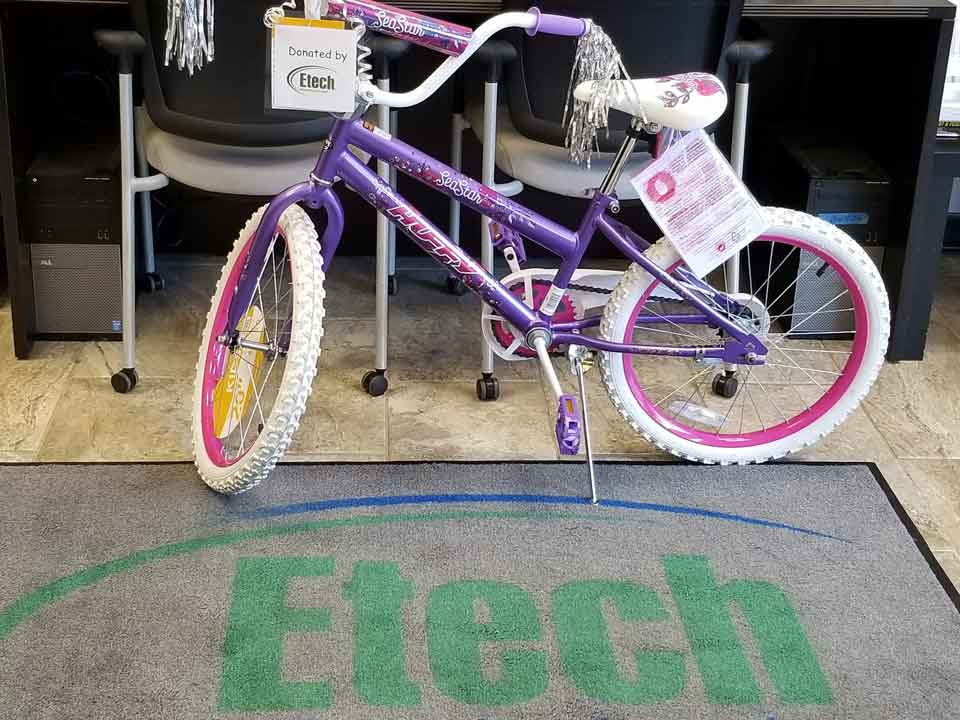 Etech Give Back Program – Donated a Bicycle at Rusk