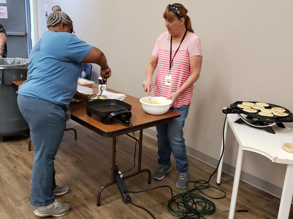 Etech Give Back Program – Breakfast at our Lufkin Center