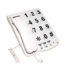 Southern Telecom Big Button Speakerphone White - EM300