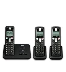 RCA Consumer DECT 6.0 Digital Cordless Phone w/ 3 Han (2101-3BKGA)