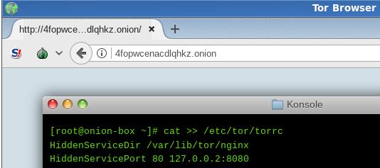 A Tor Hidden Service