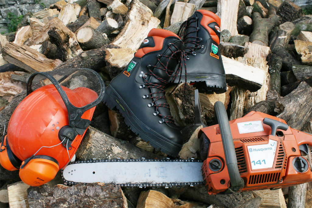 when safety matters - Vegan Chainsaw boots
