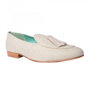 LOAFER BOW TIE LINHO NUDE