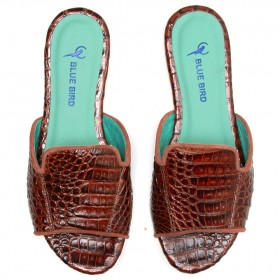 SHOWER FLAT CROCODILO MARROM