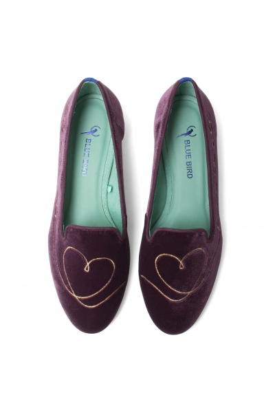 LOAFER LOVE IS ALL VELUDO ROXO