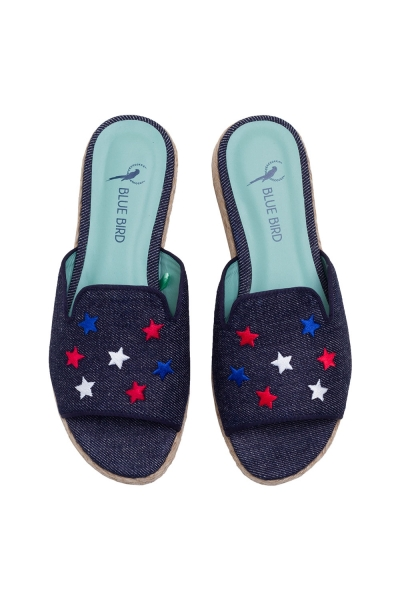 SHOWER WEDGE STAR JEANS AZUL