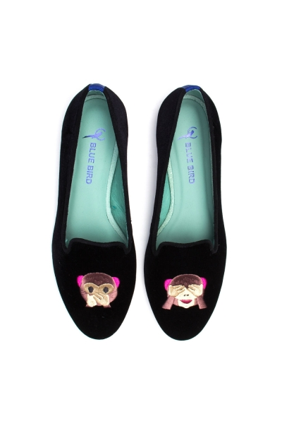 LOAFER MONKEY VELUDO PRETO