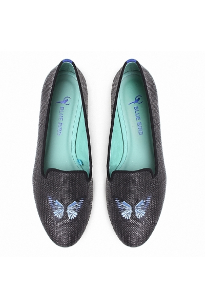 LOAFER BUTTERFLY PALHA PRETO