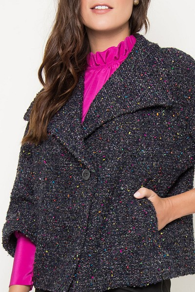 CASACO GOLA TWEED FRANCES