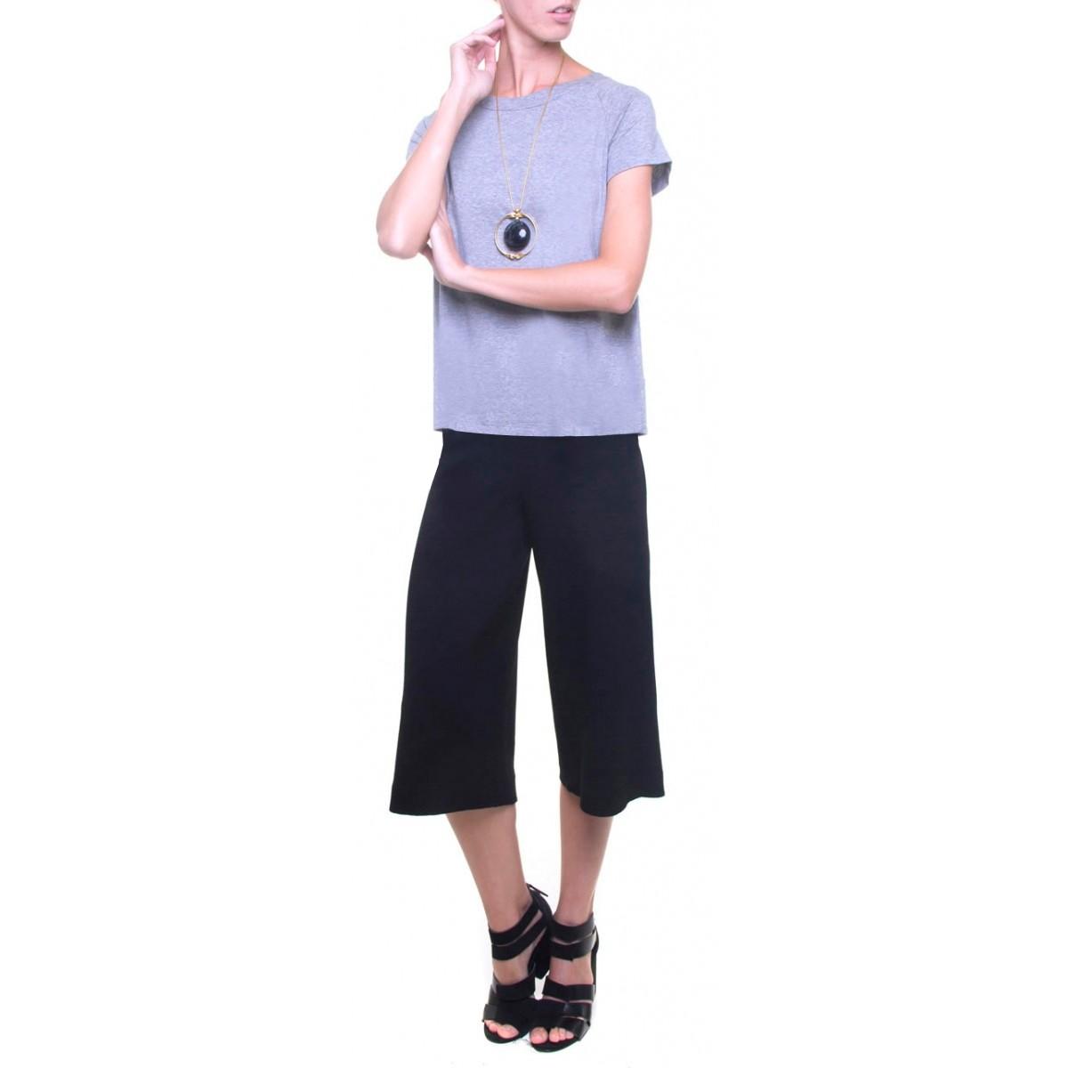 55830f1d62 blusa viscose mescla decote canoa - Camisetas   Blusas - SHOP
