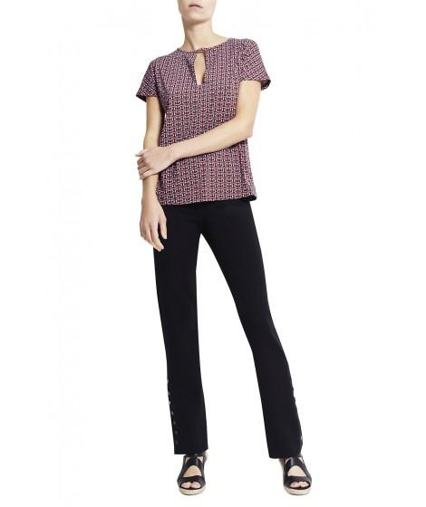 blusa jersey cordas manga curta