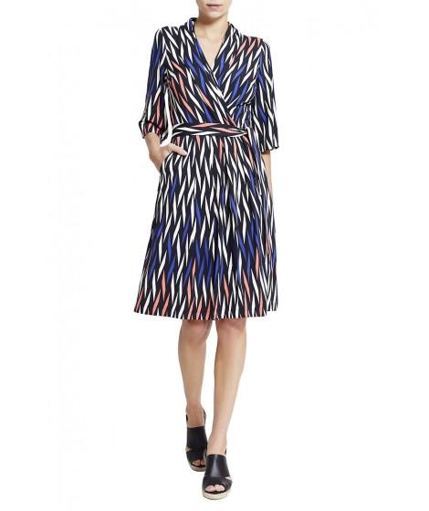vestido jersey treliça colorido saia evasê