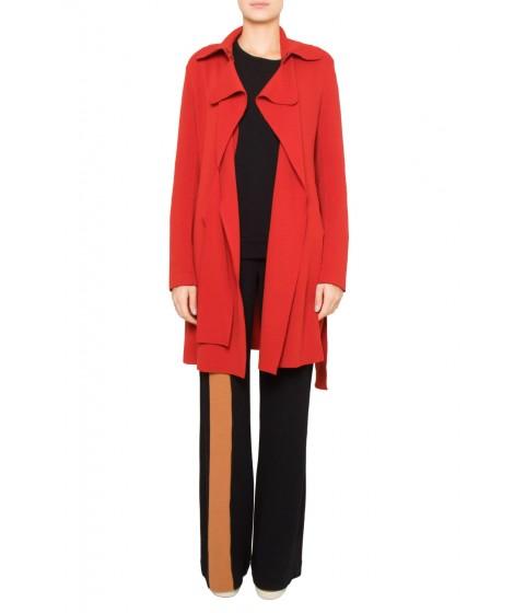casaco bouclê com faixa