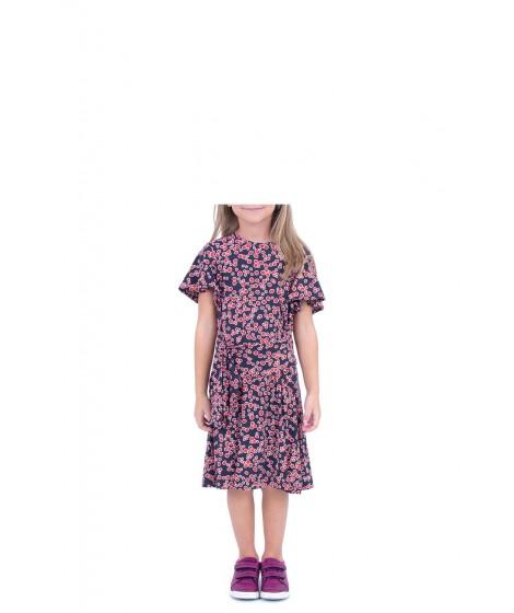 vestido jersey cerejas com faixa cintura