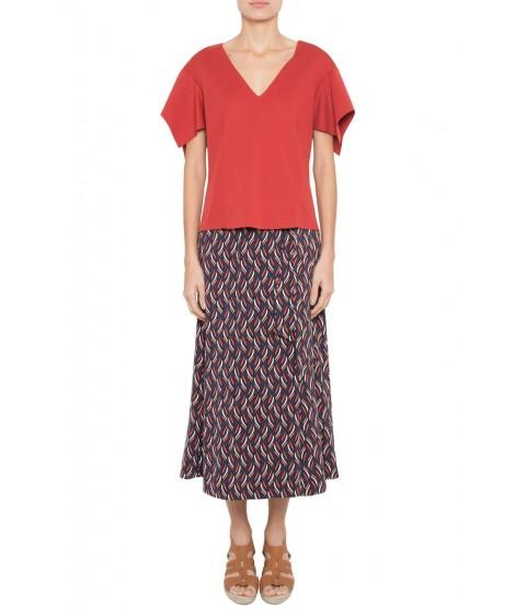 blusa malha dupla leve com recortes