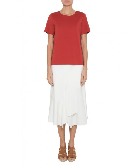 blusa malha dupla leve com cava