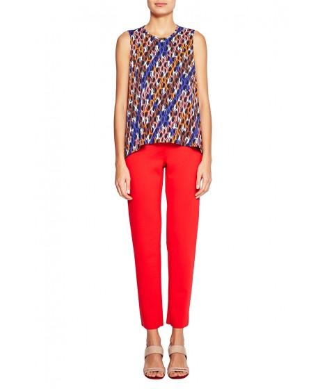 blusa jersey redes barra assimétrica