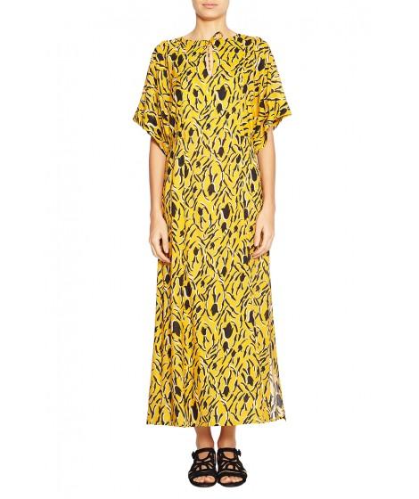 vestido algodão leve estampa floral  midi