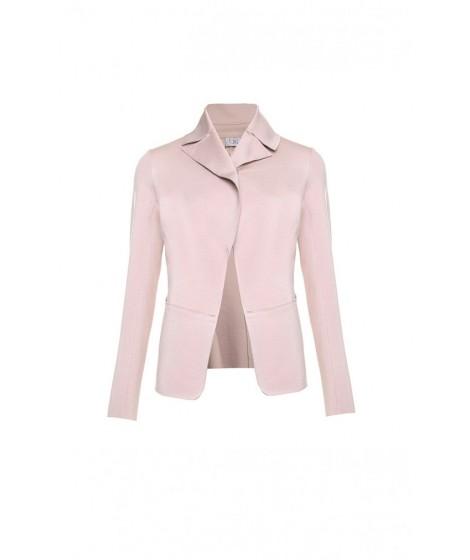casaco malha dupla cintura ajustada