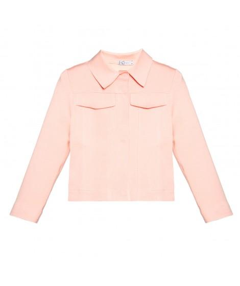 jaqueta malha dupla com bolso