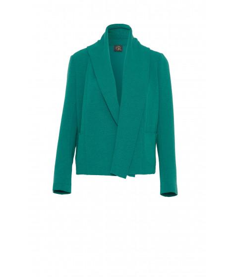 casaco bouclê manga longa