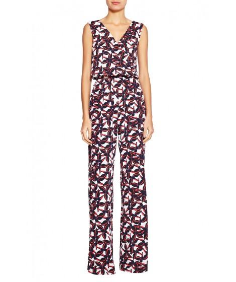 macacão jersey  hibisco perna alongada