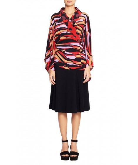blusa seda escama  kimono bicolor