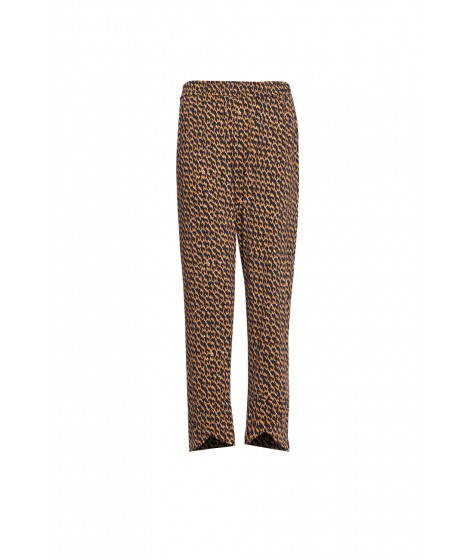 calça jersey tweed barra transpassada
