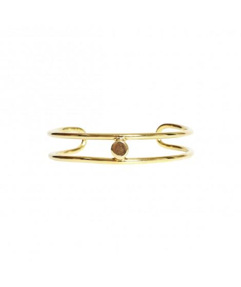 bracelete dourado curvas