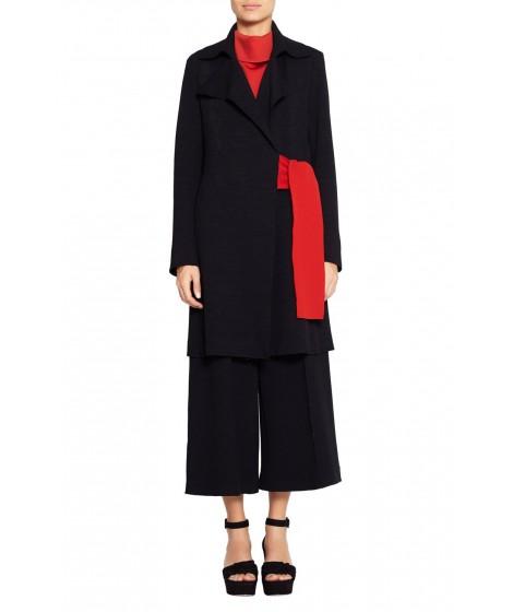 casaco bouclê tricolor  com faixa