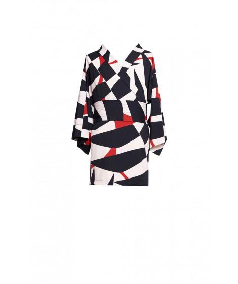 blusa jersey japão manga kimono