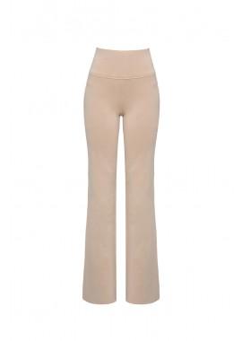 calça malha dupla cintura alta
