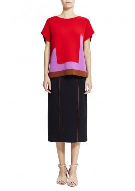 blusa bouclê tricolor