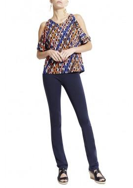 blusa jersey redes  c/ vazado manga