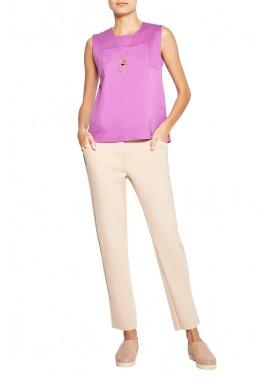 blusa duplo leve recorte decote