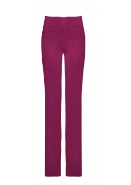 calça malha dupla recorte lateral