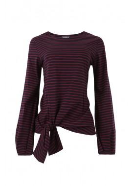 blusa malha listrada colors c/ nó