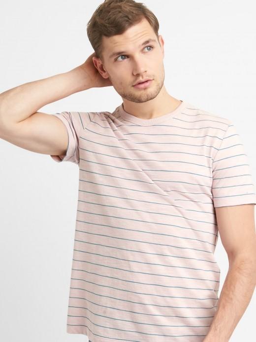 Camiseta masculino adulto listrada