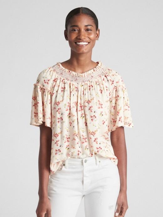 Blusa feminina adulto com estampa floral