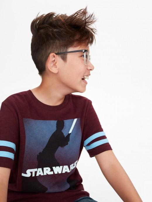 Camiseta masculina infantil com estampa Star Wars