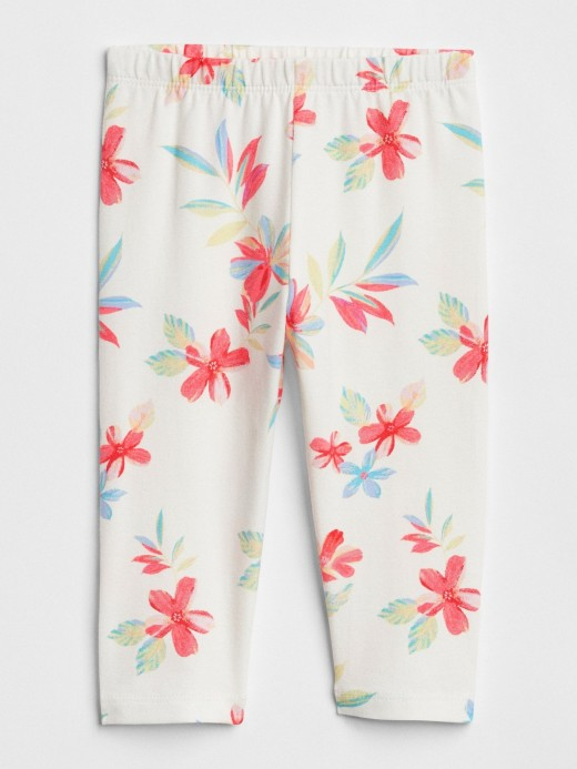 Legging baby girl com estampa floral