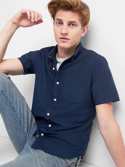 Camisa masculina adulto em Oxford