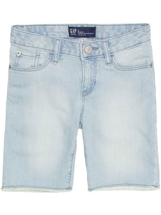 Bermuda feminina infantil jeans