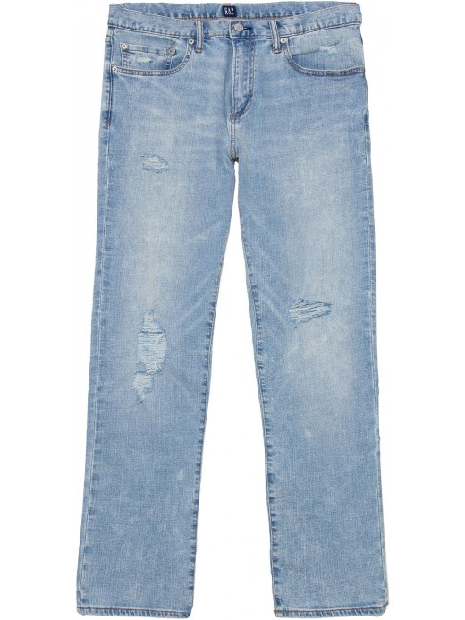 Calça masculina adulto jeans slim straight lightweight denim
